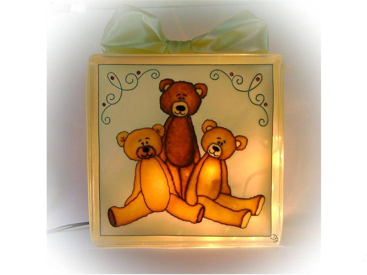 Teddy Bear Night Light Lamp Nursery Mood Lighting Childrens