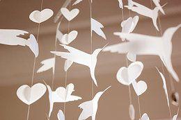 Hummingbirds in white