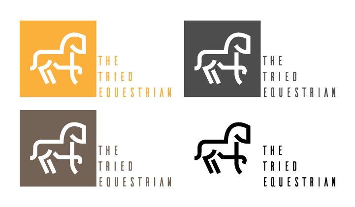3 propositions de nouveau logo pour un magasin d'équitation.