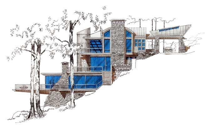 Cool hillside design