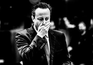 David Cameron prior to the session of the second day of the European heads of state and governments summit at the EU Council headquarters in Brussels, Belgium on 26.06.2015