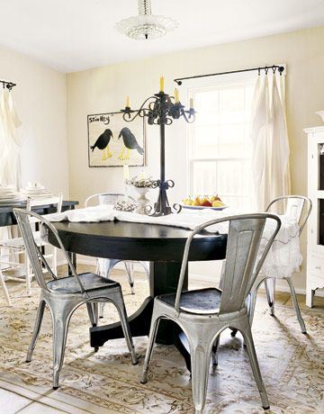 22 best images about Dining room on Pinterest   Metal chairs ...