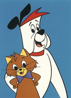 And Ruff and Reddy started the whole Hanna/Barbera animated TV cartoon shows off with their debut in 1957 -- Ruff was a smart cat and Reddy was a kind and brave dog. They rode off into the sunset with the massive influx of other Hanna/Barbera 'toons' by spring of 1960.