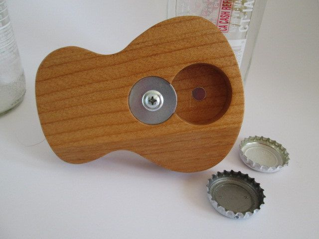 Excited to share the latest addition to my #Spuzzodeals #etsy shop: Handmade Wooden Beer Bottle Opener in shape of Acoustic guitar body http://etsy.me/2z5H0Wr #housewares #groomsmen #wedding #housewarming #band #music #graduation #fathersday #groom #SpuzzoWoodworking