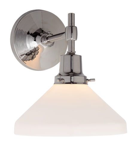 Eastmoreland Single Sconce  A6918. Available in 10 finishes & 185 shade choices.  From Rejuvenation.