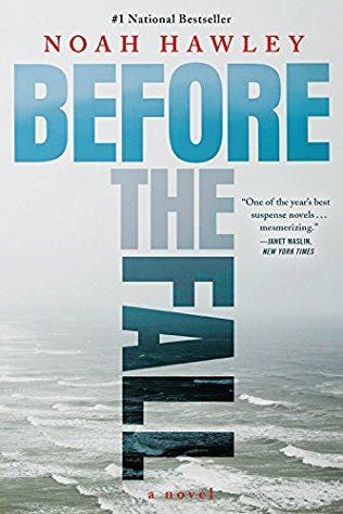 Before the Fall by Noah Hawley - released May 31, 2016.  Down-on-his-luck artist Scott Burroughs would usually take the ferry back to New York from Martha's Vineyard, but he is unexpectedly offered a spare seat on the Bateman family's private jet. Then just minutes after take-off, the plane crashes into the ocean and of the eight passengers and three crew, only Scott and the Batemans' small son, JJ, are left alive...