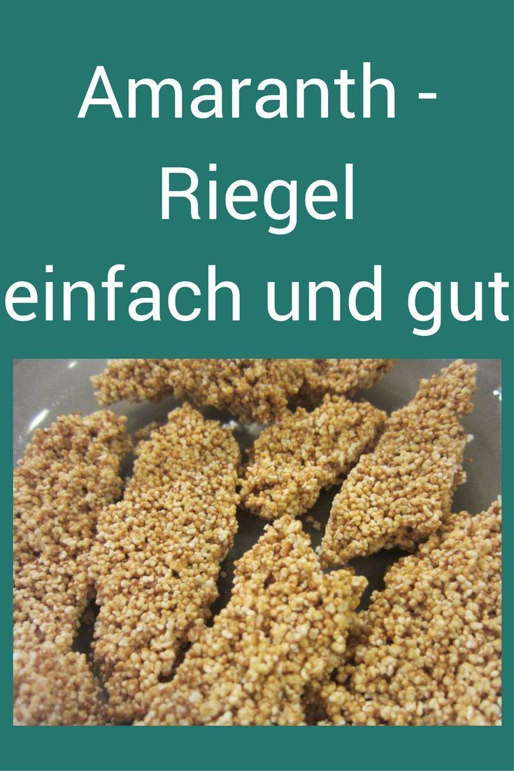 Amaranth-Riegel - süß, köstlich, ein super einfaches Rezept aus nur 4 Zutaten. #Rezept #Riegel