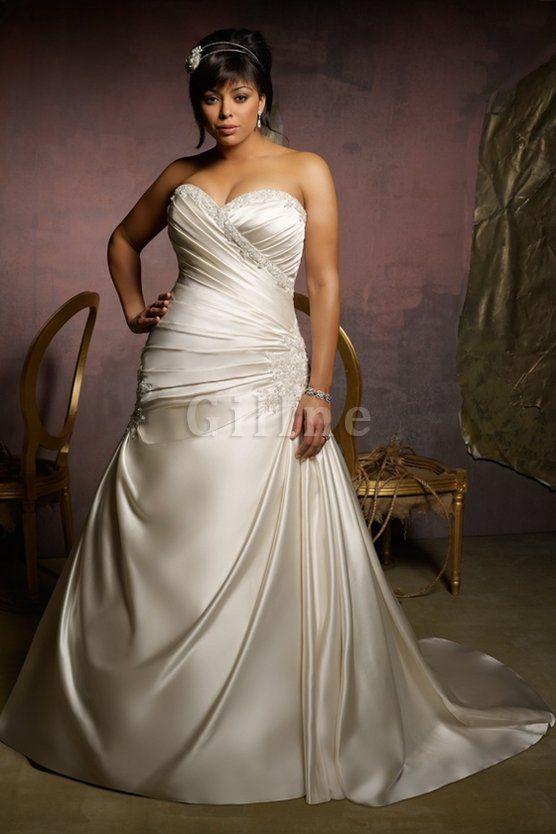 Robe de mariée sexy vintage avec perle a-ligne fourreaux plissés