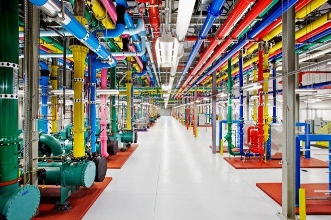 Insanely impressive use of colour at Googles Top Secret data centre...