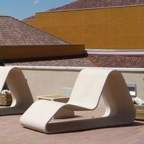 Минималистский кресло / дизайн высокая производительность бетон / армированный бетон / открытый