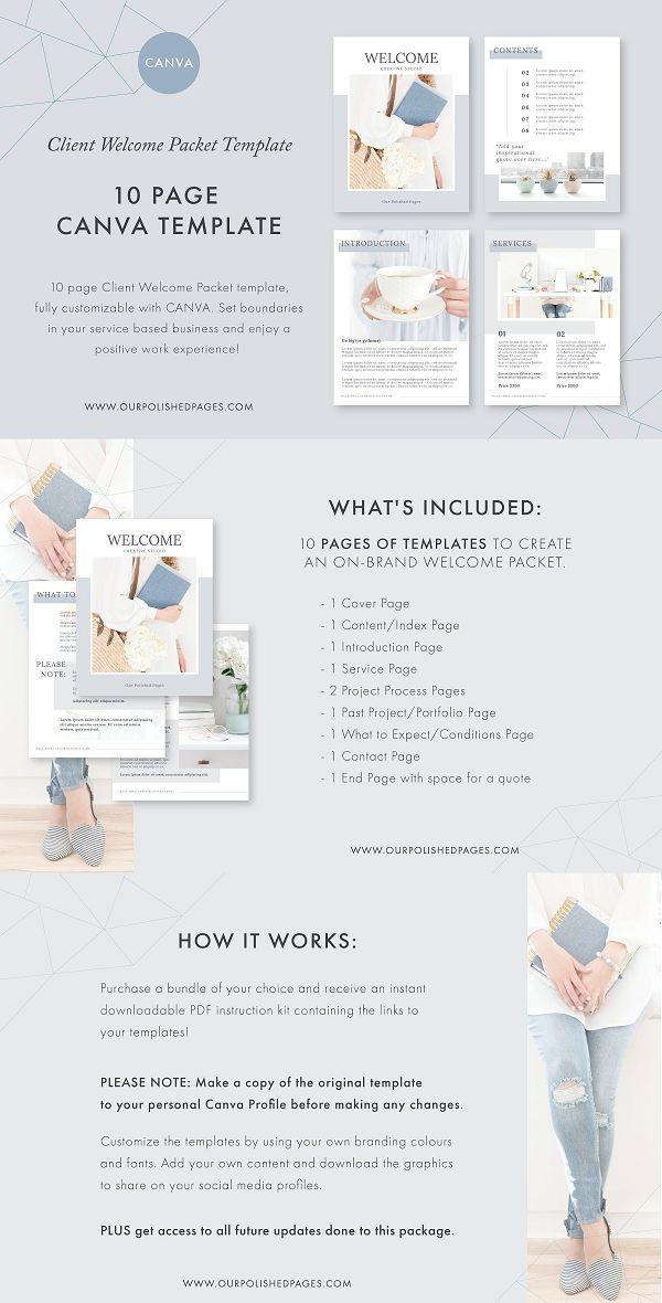 This Welcome Packet Template Is The Perfect Way To Welcome Clients And Set Boundaries Within Your Service Welcome Packet Client Welcome Welcome Packet Template Welcome packet template free