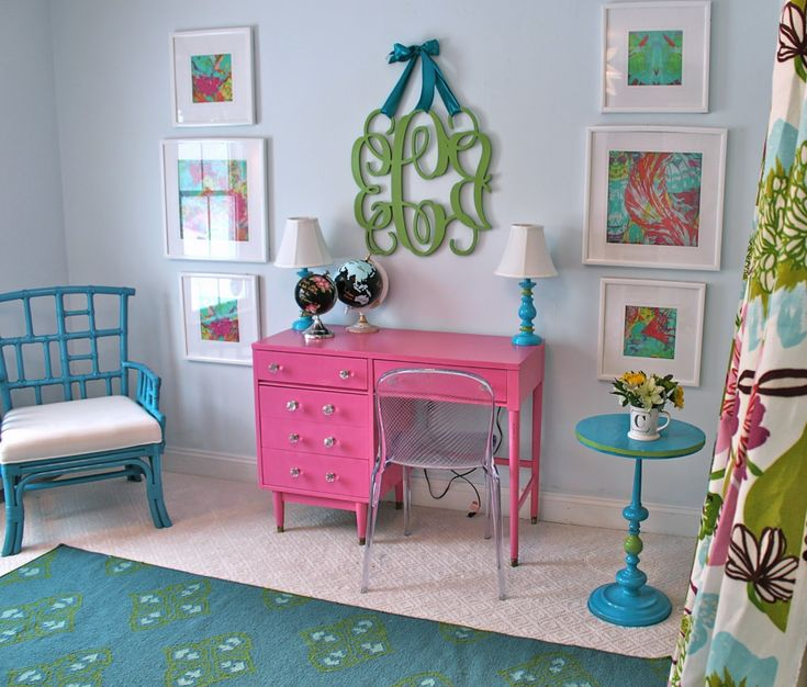 South Shore Decorating Blog: House Updates and Projects I Love (Colorful Painted Globes, Framed Fabric Art)