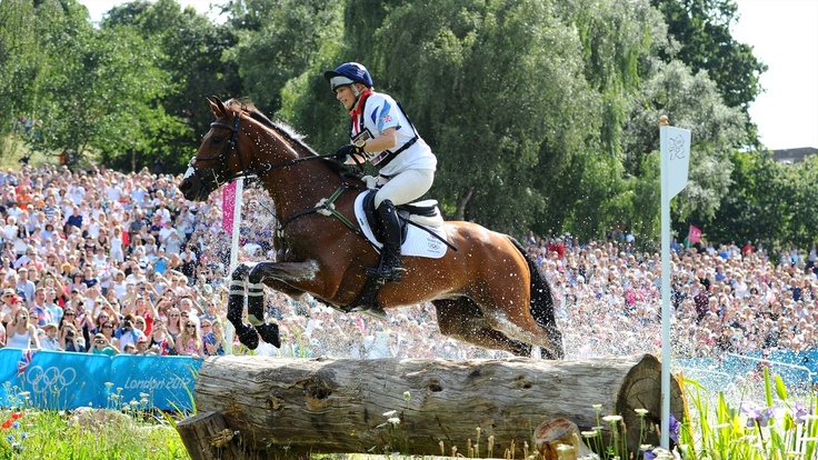 Zara Phillips of Great Britain riding High Kingdom negotiates a jump in the Eventing Cross Country Equestrian event on Day 3 of the London 2012 Olympic Games at Greenwich Park