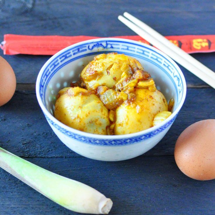 Rendang eieren (van duizenden1dag). Lekker!