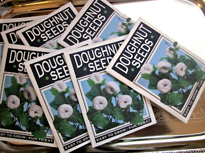 Funny April Fool's Joke - Doughnut seeds. Free printable!