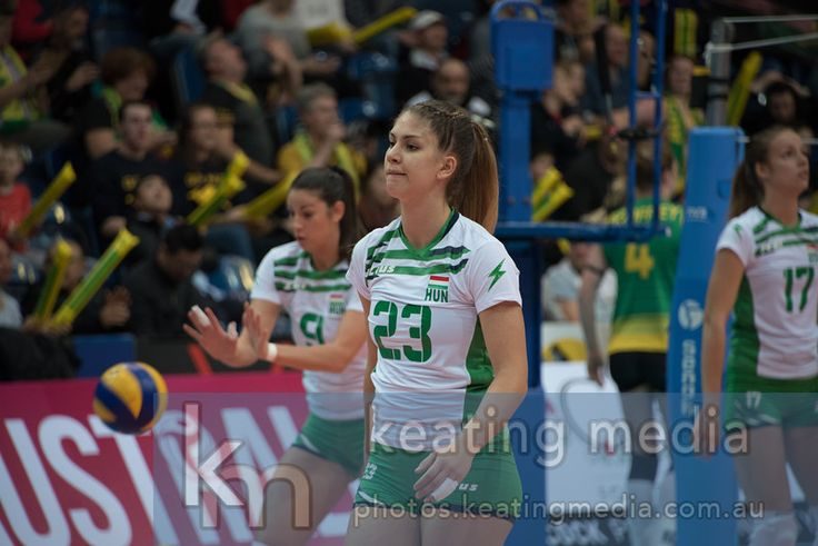 Eszter Pekárik for Hungary during the warmup - Women's Volleyball World Grand Prix Finals Group 3 Canberra - Hungary v Australia