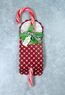 Tinker With Ink & Paper: Candy Cane Tag-a-ment