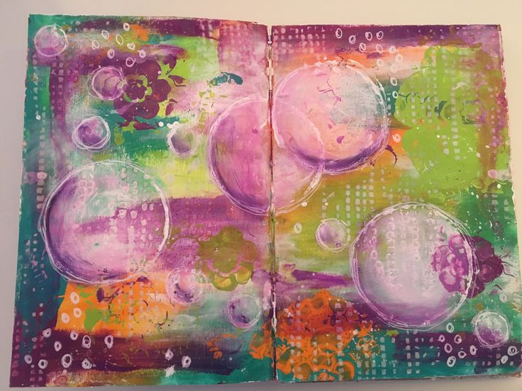 Trying out dylusions paint