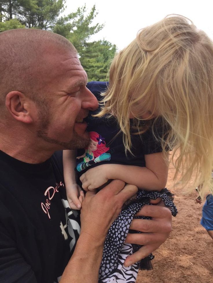 Photo of Triple H & his  Daughter  Vaughn Evelyn Levesque