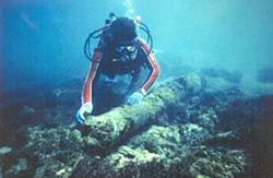 Urca de Lima (shipwreck) in St. Lucie County, Florida.