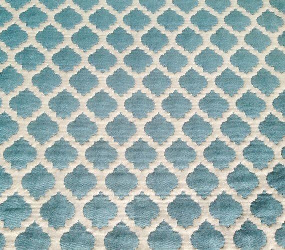 Morrocan Aqua Fabric Upholstery Aqua Fabric by ShopMyFabrics