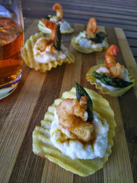 Oliodoliva: Sfizi di mare con mousse di mozzarella e code di g...