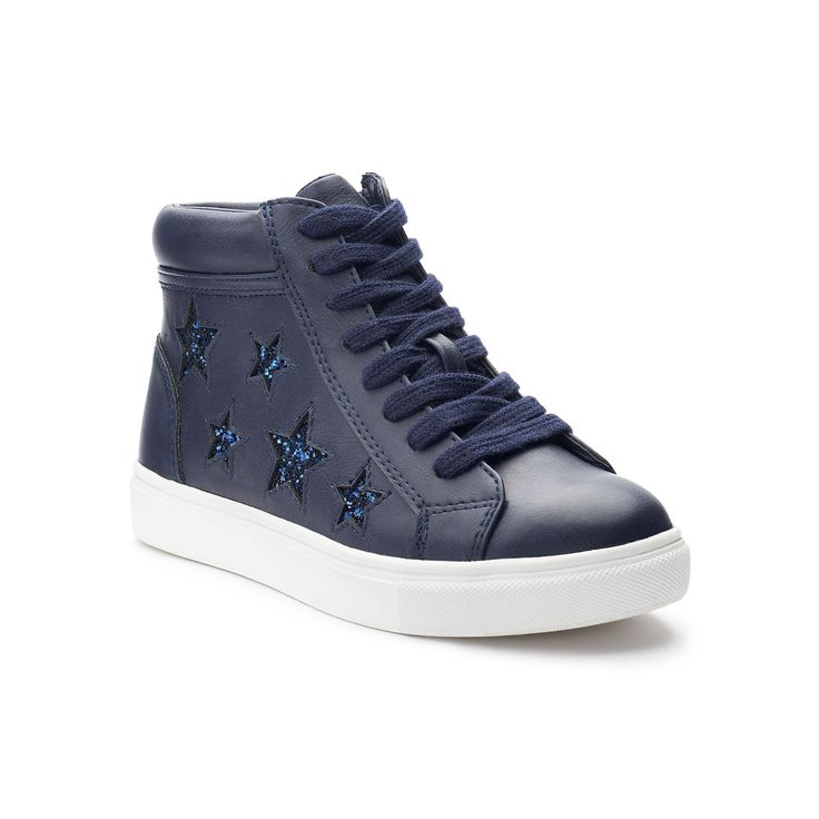 SO® Nellie Star Girls' High-Top Sneakers, Girl's, Size: 13, Blue