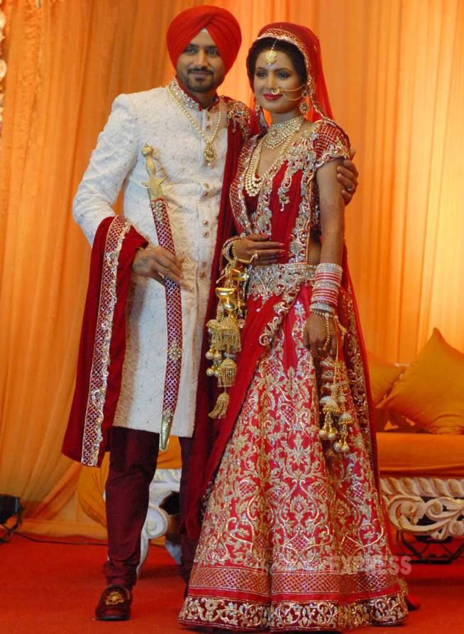 Congratulations  to Geeta Basra & Harbhajan Singh for their marriage we wish them happy married life !
