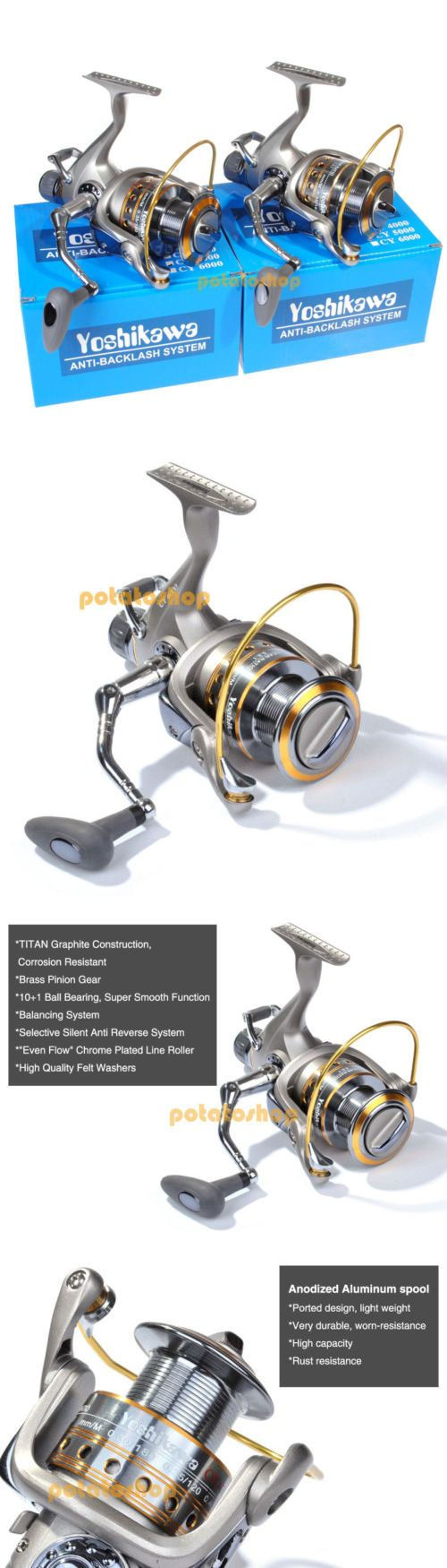 Spinning Reels 36147: Lot 2 11Bb Yoshikawa Bait-Feeder Spinning Reel Carp Salmon Fishing 4000 5.5:1 -> BUY IT NOW ONLY: $60.99 on eBay!