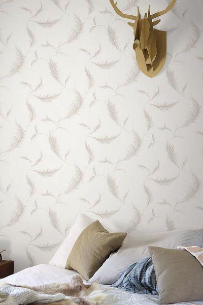 Papier peint Lucia Plume de Leroy Merlin : Le papier peint à motifs en met plein la vue ! - Journal des Femmes