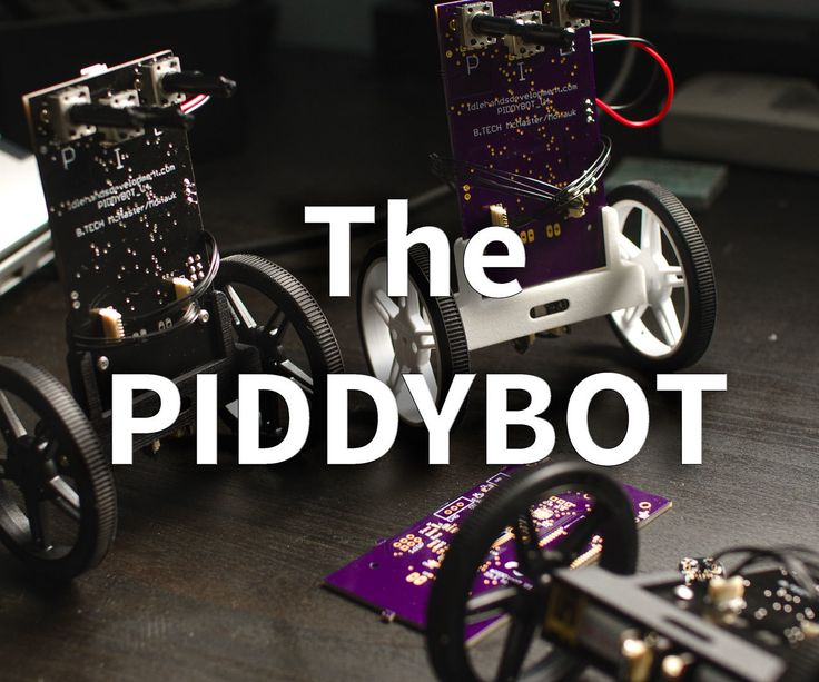 """The PIDDYBOT is a small Open Source balancing robot with the aim of teaching PID controls using a """"hands on"""" concept. Anyone can play with the PIDDYBOT ..."""