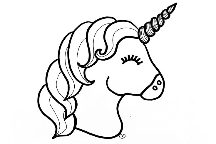 unicorn kleurplaat di 2020