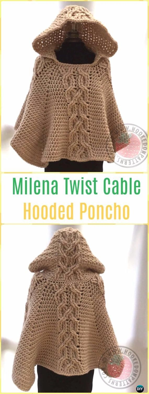 511 best crochet wearables images on pinterest clothing crochet women capes poncho patterns tutorials bankloansurffo Images
