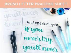free brush letter practice sheet