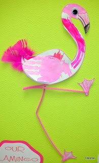 1000 images about flamingo craft on pinterest search for Flamingo feather paint