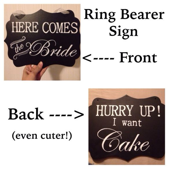 Ring bearer sign step by step DIY