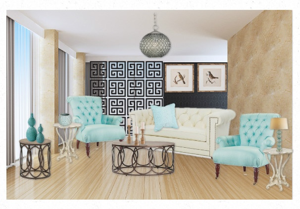 This room is Layla Grayce inspired with the soft tones and cool colour scheme.