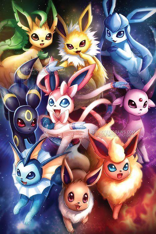 Pokemon – Eeveelutions Poster Print – #eeveelutions #pokemon #Poster #print