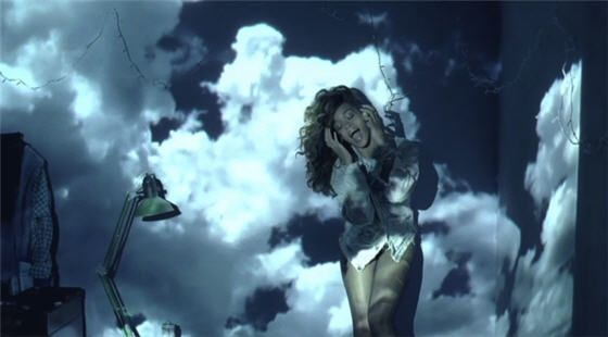 Rhianna's We found love video, loving her clothes in this
