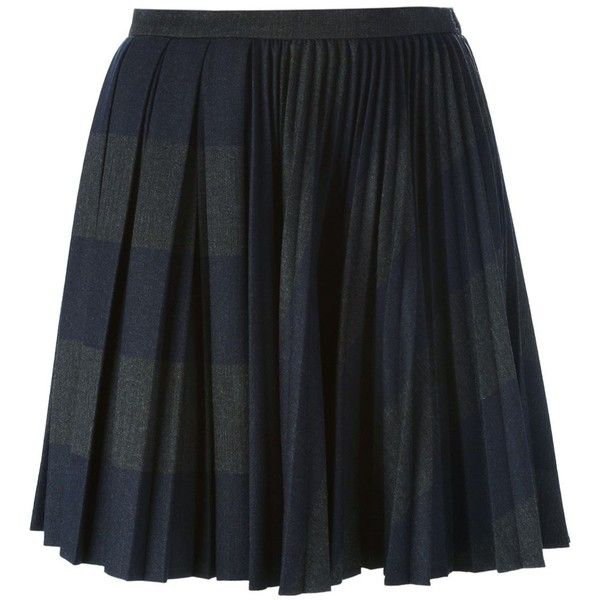 Marco De Vincenzo Pleated Short Skirt (17.039.435 VND) ❤ liked on Polyvore featuring skirts, mini skirts, grey, pleated skirt, gray pleated mini skirt, gray skirt, grey mini skirt and gray pleated skirt