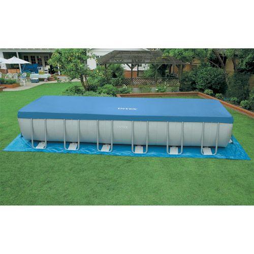 Intex 24 39 x 12 39 x 52 ultra metal frame above ground for Above ground pool decks walmart