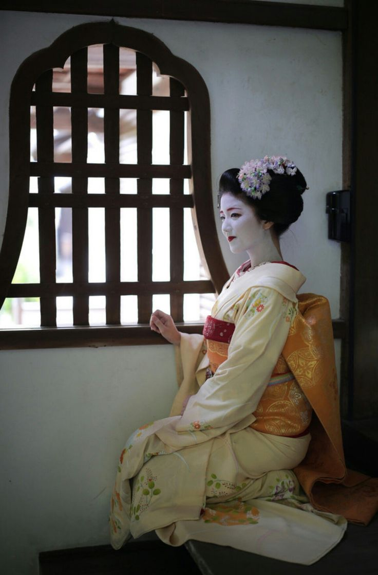 Maiko. Katsuna. #japan #kyoto #geisha #geiko #maiko #kimono #japanese culture