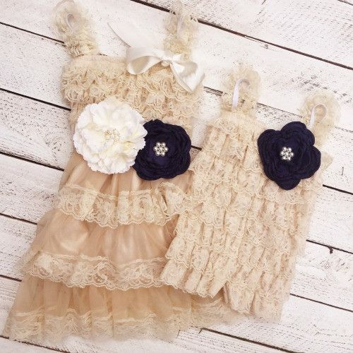 These matching big sister and little sister outfits comes with the big sister…