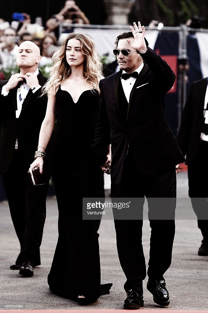 Johnny Depp and Amber Heard attend the 'Black Mass' Premiere during the 72nd Venice Film Festival on (September 4, 2015) in Venice, Italy.