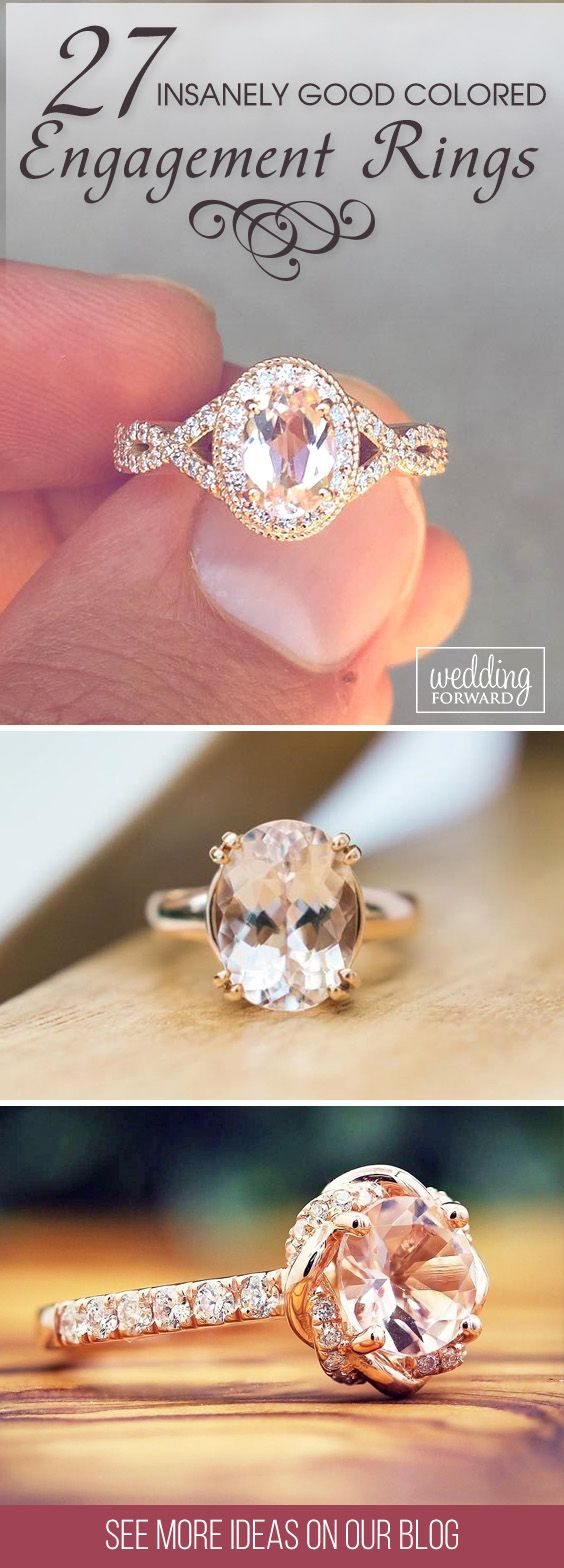 27 Insanely Good Colored Engagement Rings ❤ It's time to turn your attention to the world of colored engagement rings. Sapphires, opal, emeralds and etc - choose the best stone! See more: http://www.weddingforward.com/colored-engagement-rings/ #wedding #colored #engagement #rings