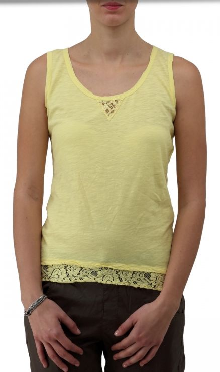 Sleeveless Top - Yellow Spritz IV by VIDA VIDA Cheap Hot Sale P8VWEGXvU