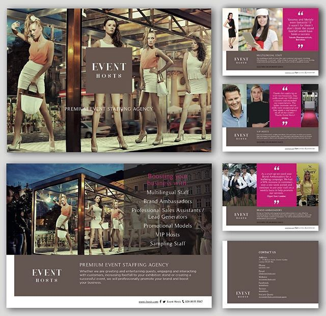 12 page PDF #brochure design.  Event Hosts, Premium Event Staffing Agency. Promote your brand and boost your business with @eventhosts 👍🏼 Fab experienced team, and lovely a client to get 'creative' for 😊 #Exhibitions #CorporateEvents #Models #VIPhosts #BrandAmbassadors #SamplingStaff #MultiligualStaffs  I created the brand identity for this client couple of years ago. Great to see them growing from strength to strength!! 🙌🏼 #GraphicDesign #Branding #DesignWithPurpose #Brochure…