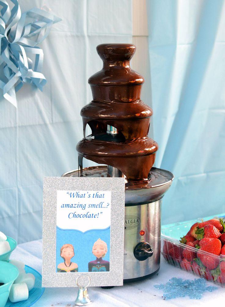 Chocolate Fountain  Frozen Birthday Theme Food