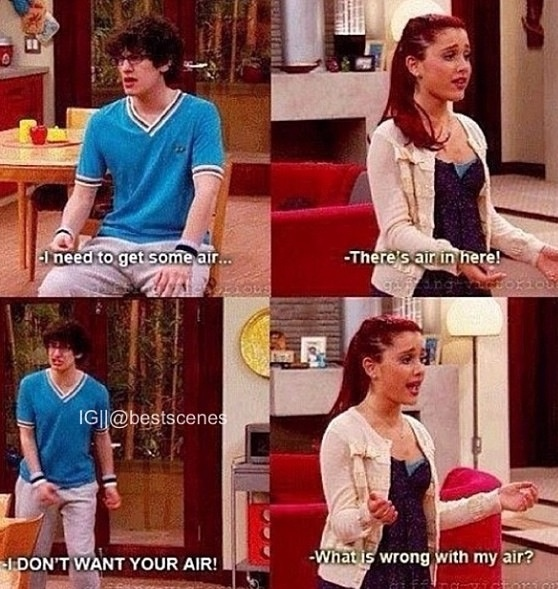 Another Cat and Robbie laugh out loud scene. #WhyWeLoveVictorious #CatandRobbie