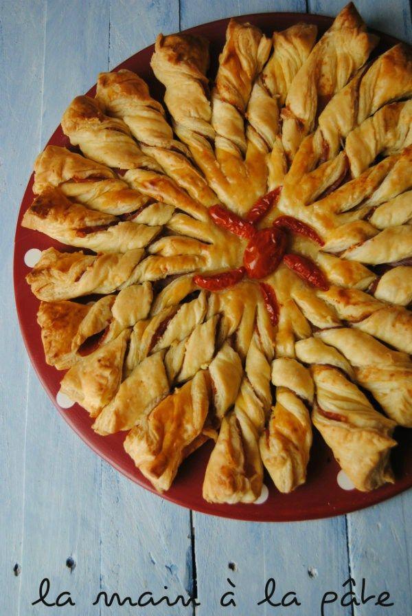Tarte soleil au jambon italien et au parmesan -
